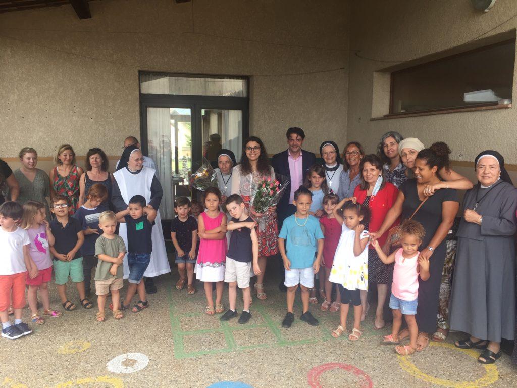 Surprise et émotion le 1er juillet dernier au Jardin d'Enfants des Soeurs du Mont Ventoux à Grasse