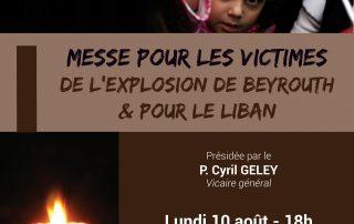 Messe pour les victimes de l'explosion de Beyrouth & pour le Liban